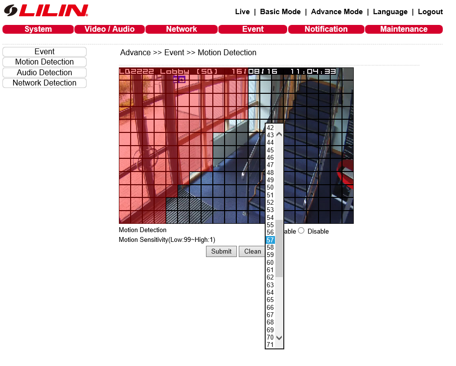 How to Enable Motion Detection on an IP Camera – LILIN